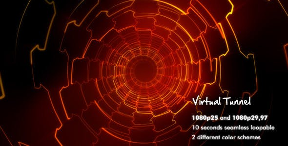 Videohive 2845588 - Virtual Tunnel - Motion Graphic - Footage