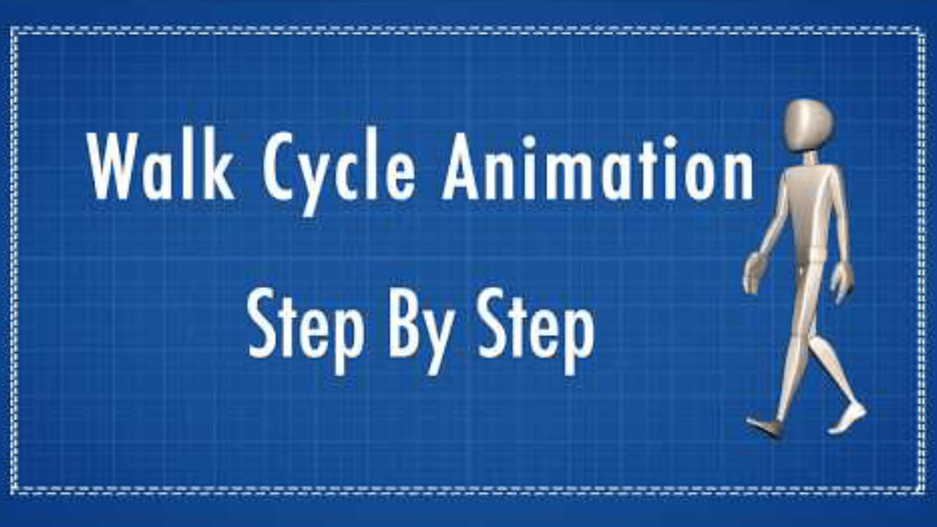Maya 3d animation - Learn how to animate a walk cycle step by step - Maya Tutorials