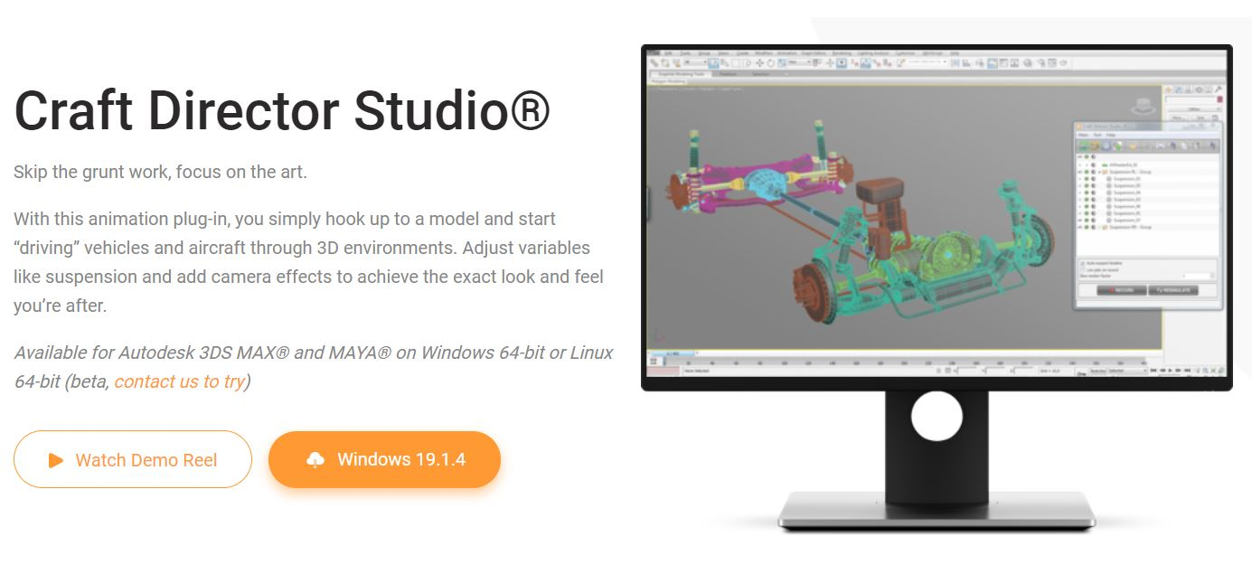Craft Director Studio v19.1.2 For 2014 - 2019 - Plugin For Maya,3DS MAX