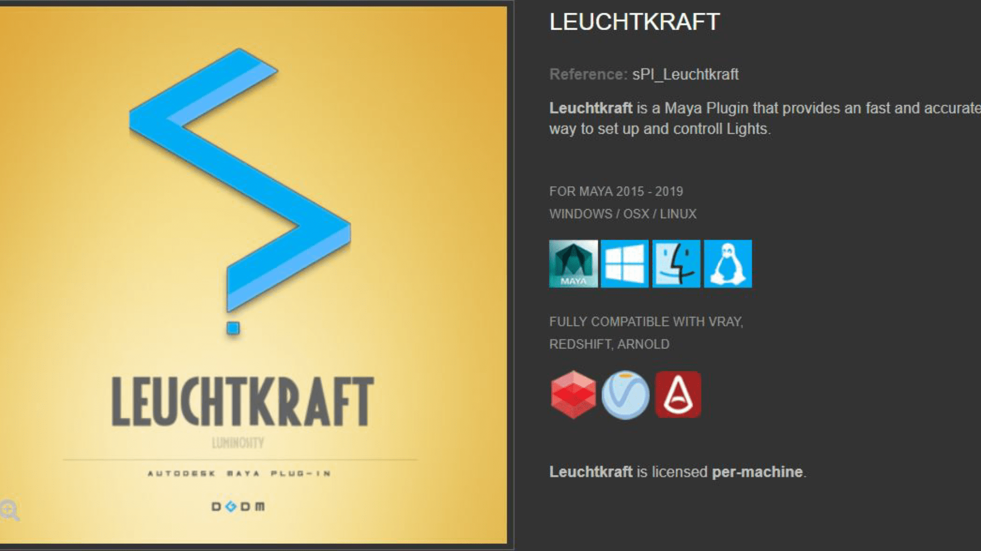 Leuchtkraft 1.65 - Plugin For Maya