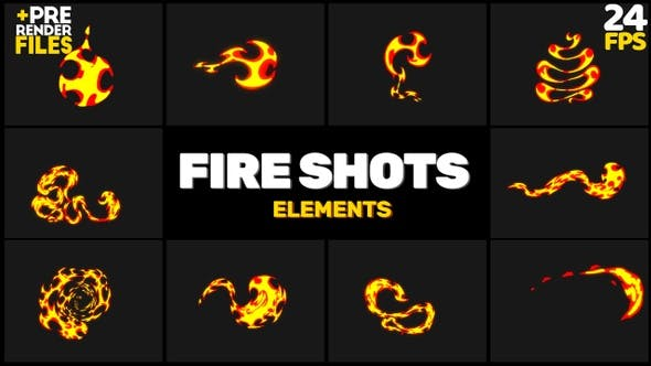 Videohive 23750271 - Fire Shots Pack 219045 - Footage