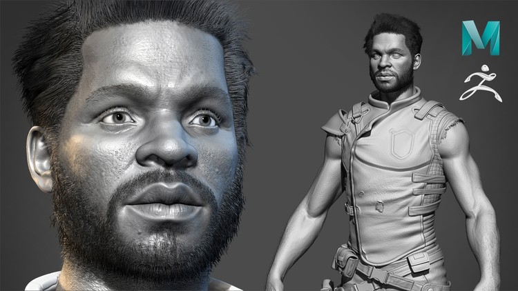 Realistic Character Modeling For Game In Maya and Zbrush - Maya Tutorials