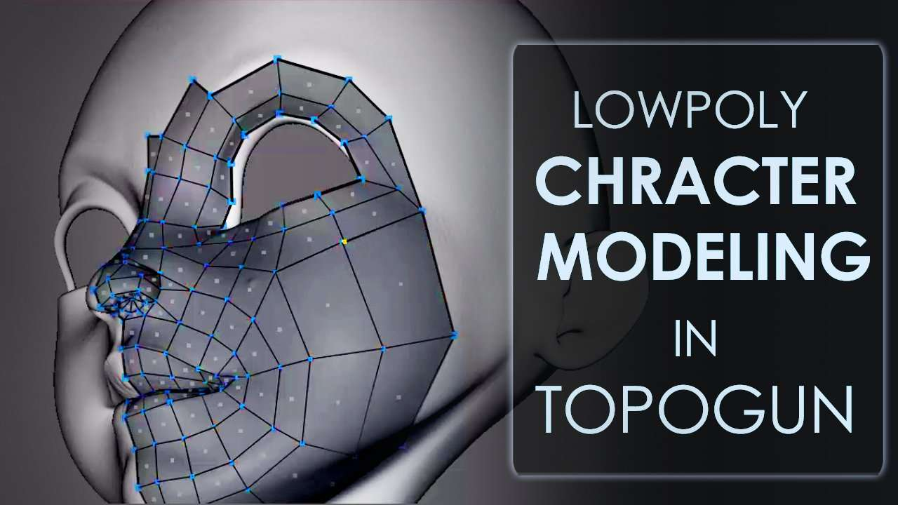 Low Poly Character Modeling In Topogun and Maya - Maya Tutorials