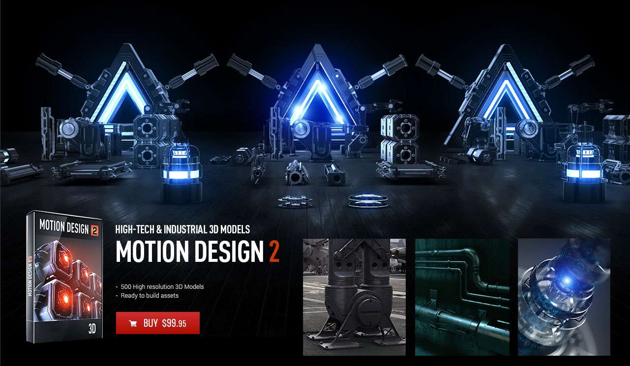Motion Design Pack 2 for Element 3D - Model 3D Download For Free