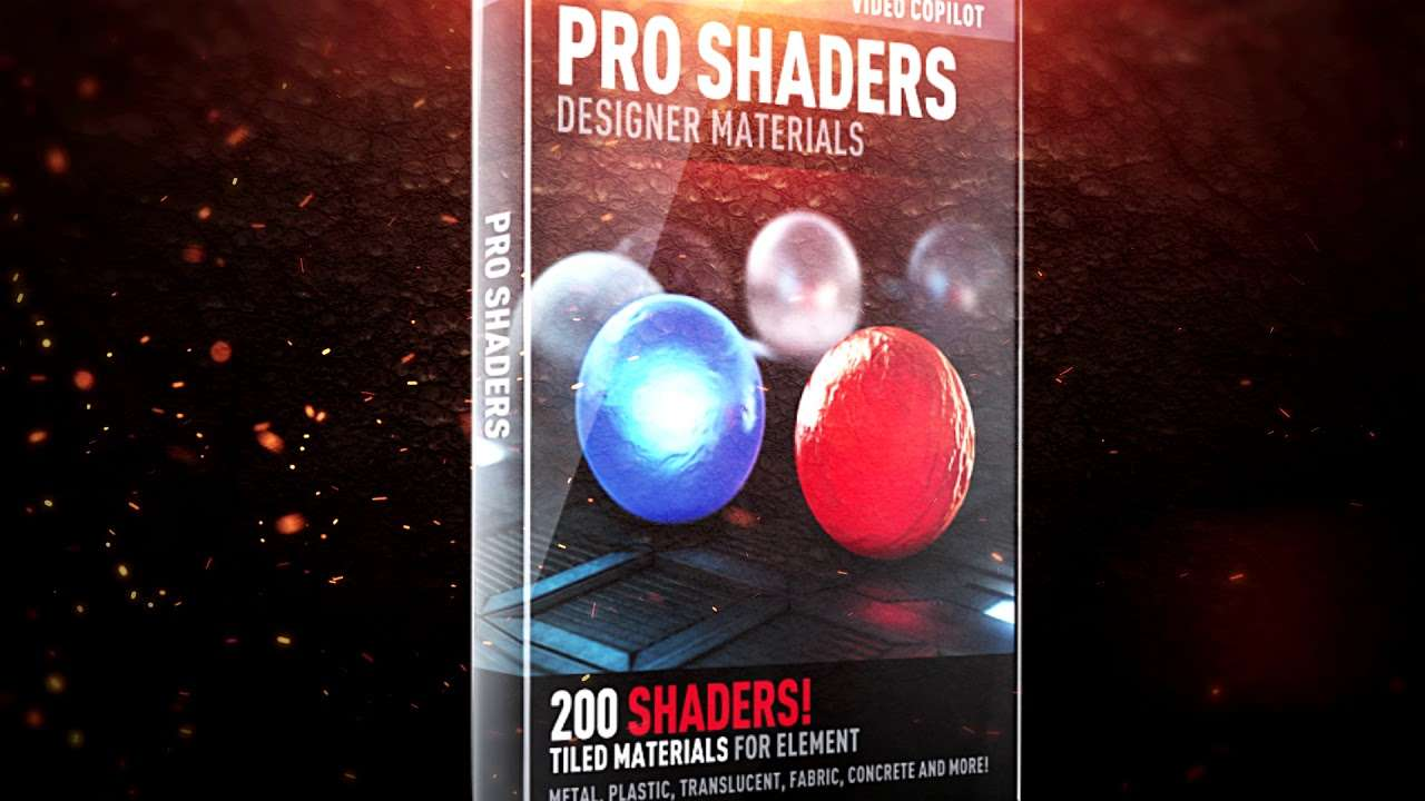 VideoCopilot - Pro Shader Texture, Materials Pack For Element 3D - Texture Download For Free