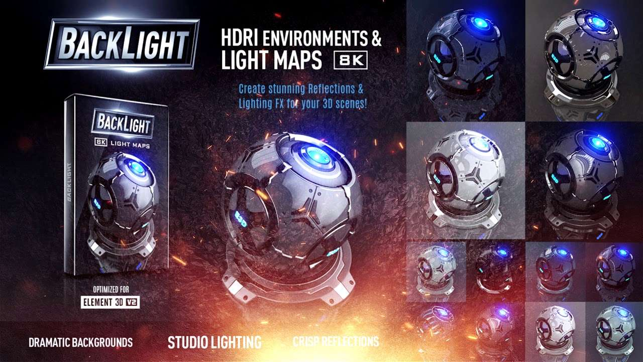 VideoCopilot Backlight (Environments and Light Maps) For Element 3D (Win/Mac)