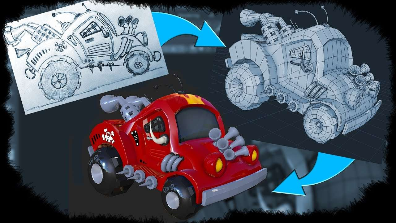 Learn to Model a Cartoon Car in Maya - Maya Tutorials