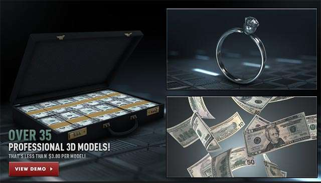 VideoCopilot - Money and Casino Model Pack For Element 3D - Model 3D Download For Free