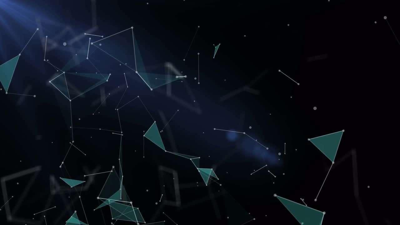 Geometric BG With Plexus Triangles 208546 - Footage
