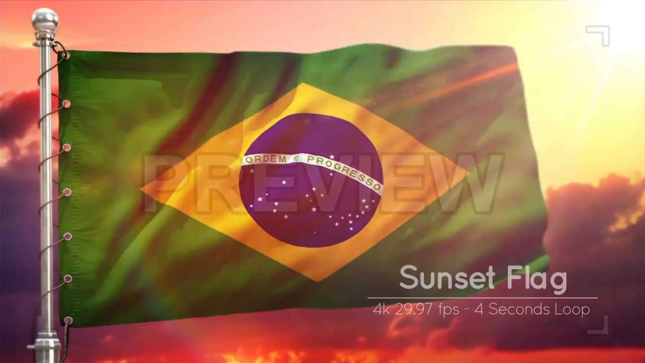 Brazil Flags Pack 219163 - Footage