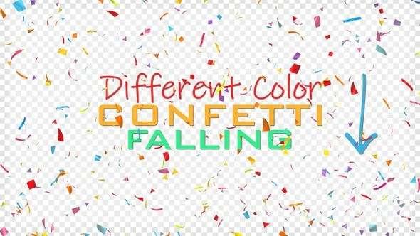 Videohive 23717481 - Confetti Celebration - Footage