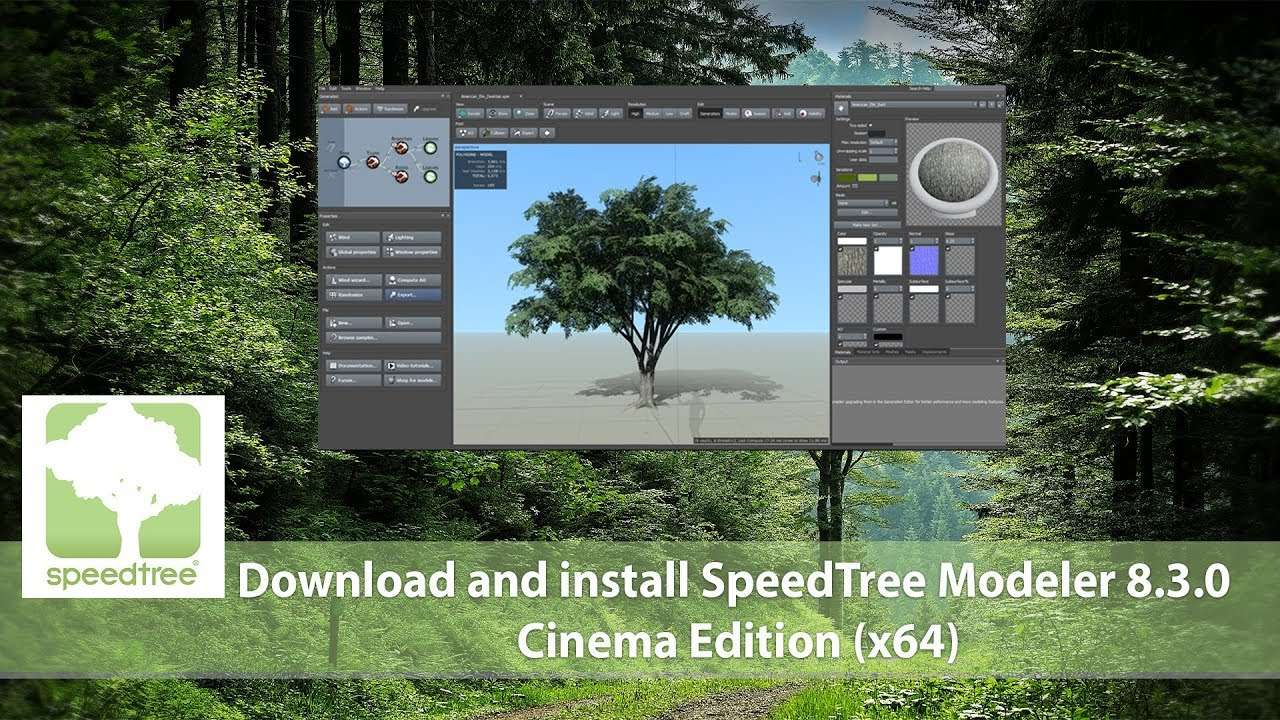 SpeedTree Modeler 8.4.1 Cinema Edition Win x64 - Cinema 4D Plugin