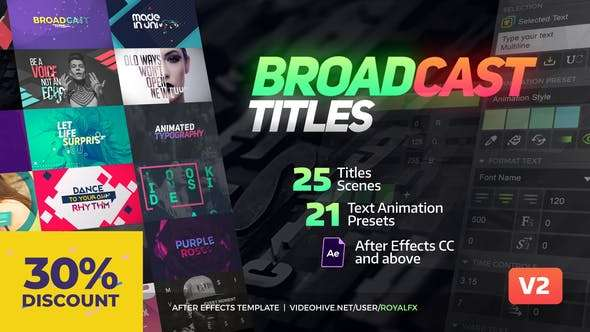 VIDEOHIVE 20233979 TypeX - Text Animation | Tool Broadcast Titles - Script, Plugin For After Effect