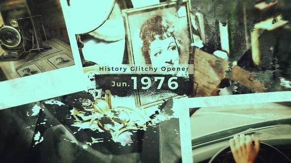 Videohive 22589536 - History Glitchy Opener - After Effect Template