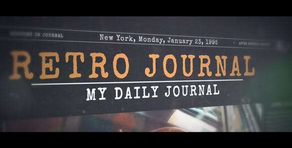Videohive 19561125 - History in Journal - After Effect Template