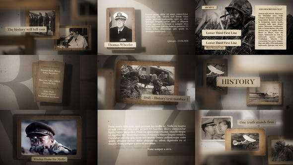 Videohive 23607770 - History - After Effect Template