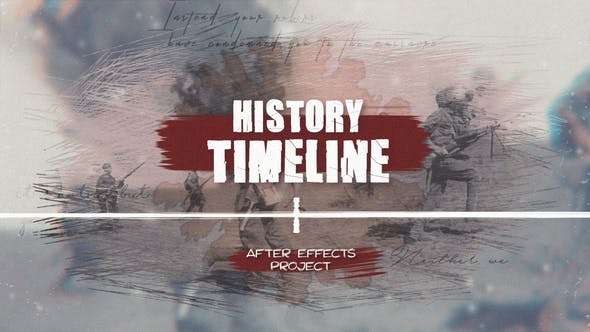 Videohive 22820627 - History Timeline - After Effect Template