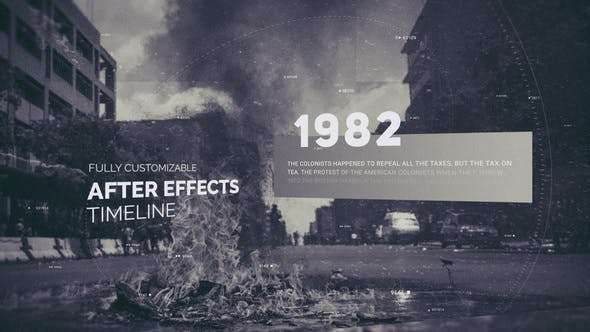 Videohive 22597456 - History Timeline - After Effect Template