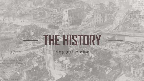 Videohive 21449116 - The History - After Effect Template