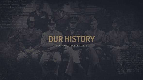 Videohive 23712375 - Our history - After Effect Template