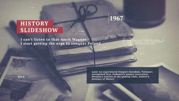 Videohive 22721955 - History Slideshow - After Effect Template