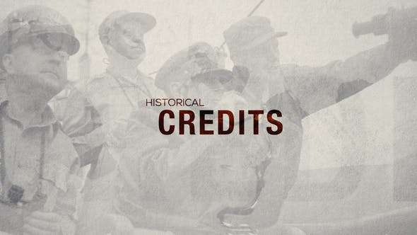Videohive 23352836 - Historical Credits - After Effect Template