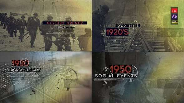 Videohive 21853374 - History Opener V2 - After Effect Template