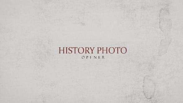 Videohive 22816397 - History Photo Opener - After Effect Template