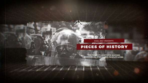 Videohive 23821985 - Pieces of History - After Effect Template