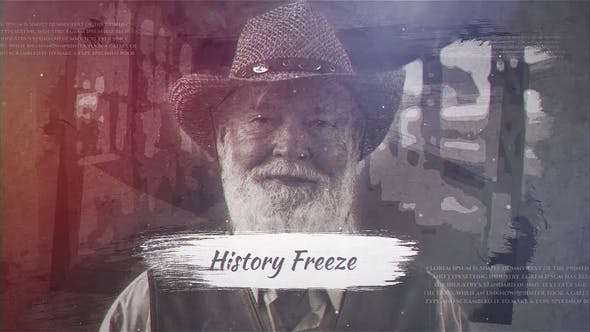 Videohive 23877834 - History Freeze - After Effect Template