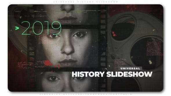 Videohive 23428120 - Universal History Slideshow - After Effect Template