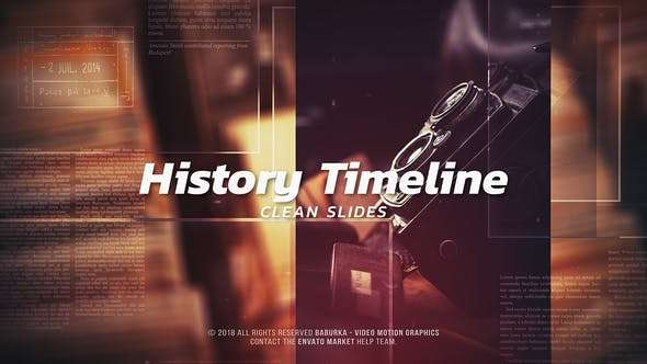 Videohive 22775922 - History Timeline - Clean Slides - After Effect Template
