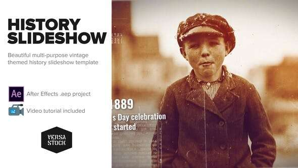 Videohive 23600970 - Burned History Frames Slideshow - After Effect Template