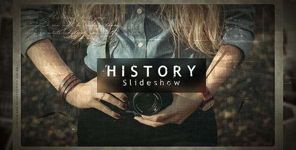 Videohive 21405907 - History Slideshow - After Effect Template