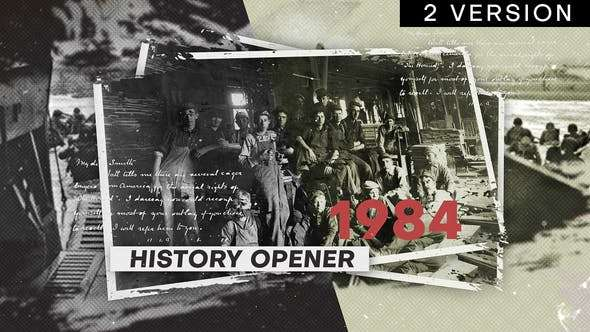 Videohive 21937302 - History Opener - After Effect Template