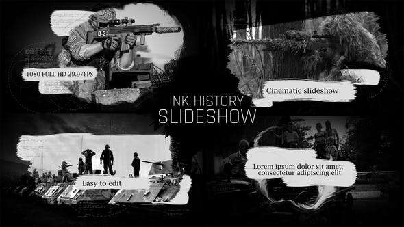 Videohive 22396142 - Ink History Slideshow - After Effect Template