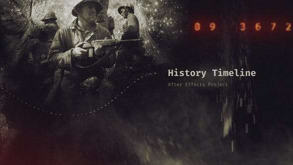 Videohive 22454035 - History Timeline III - After Effect Template