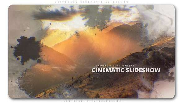 Videohive 22323501 - Inks Cinematic Slideshow - After Effect Template