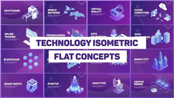 Videohive 22413322 - Technology Isometric Concepts - After Effect Template