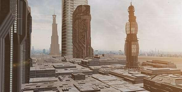 Videohive 14812402 - Sci Fi City & Ships II - Footage