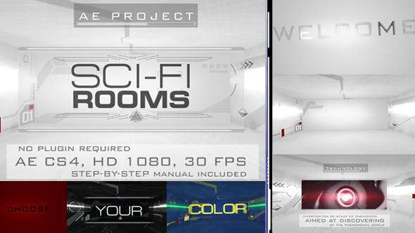 Videohive 6877868 - Sci-Fi Rooms - After Effect Template