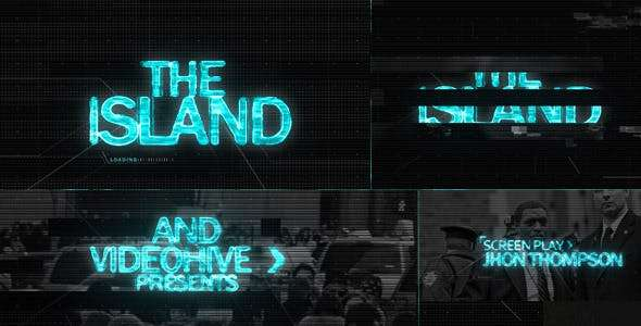 Videohive 4716225 - The ISLAND (Sci Fi) Cinematic Title Sequence - After Effect Template