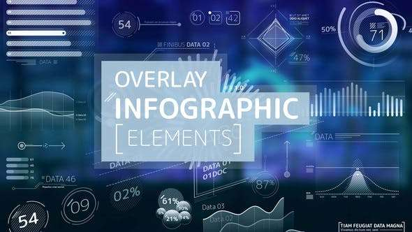 Videohive 24566996 - Overlay Infographic Elements - After Effect Project
