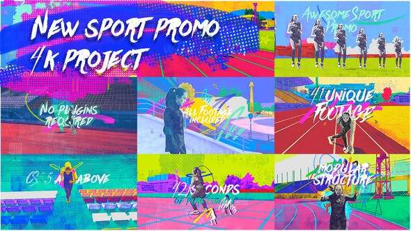 Videohive 24458750 - New Sport Promo 4K - After Effect Template