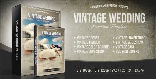 Videohive 4891310 - Vintage Wedding Package  - After Effect Template