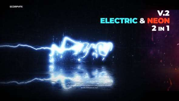 Videohive 22870197 - Electric and Neon Logo Reveal - After Effect Template