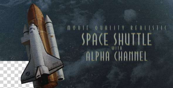 Videohive 16661440 - Space Shuttle - After Effect Template