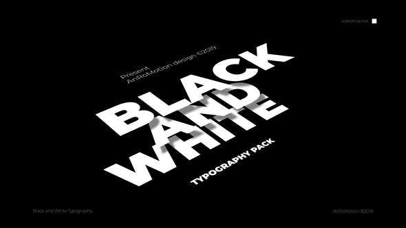 Videohive 23821550 - Black And White - Titles And Typography - After Effect Template
