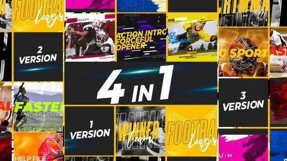 Videohive 24175299 - Extreme Sports 4 in1 - After Effect Template