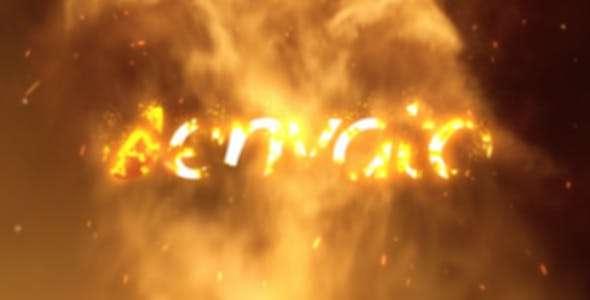 Videohive 6543201 - Fire Logo Reveal 02 - After Effect Template